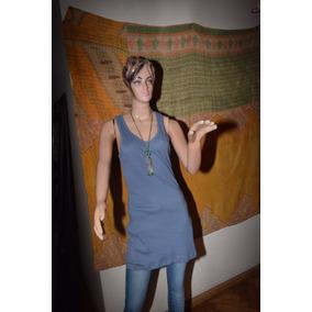 Paula Cahen Danvers Musculosa Larga Basica Azul