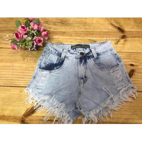Short Jeans Feminino Cintura Alta La