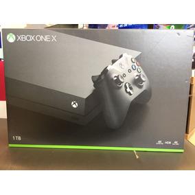 Console X-box One X 1tb Pt + Controle S/fio Preto/nacional