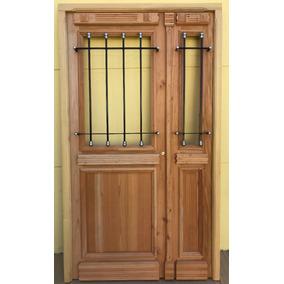 Puertas antigua de madera doble hoja aberturas puertas for Puerta de madera doble estilo antiguo