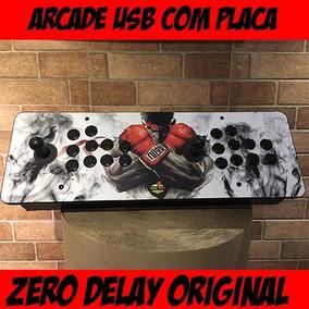 Controle Arcade / Fliperama Zero Delay Ps4 / Ps3 / Pc / Rasp
