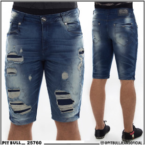Bermuda Masculina Pit Bull Jeans Original 25760