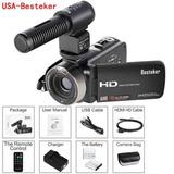 Besteker Cámara Digital Hdv-302m Video Cámara Profesional Hd