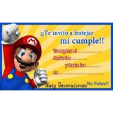 Tarjeta Invitacion Mario Bros Modelo 2