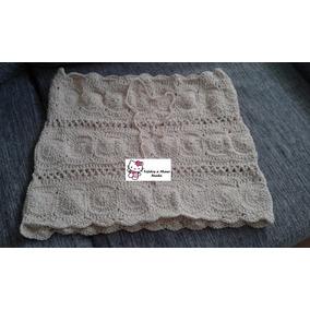 Pollera Minifalda Tejida Al Crochet Hilo De Algodon