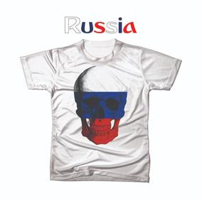 Camiseta Camisa Personalizada Copa Do Mundo Russia Futebol
