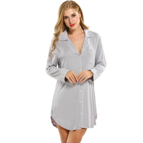 Camisón Por Encima De Rodilla Dormir Contraste Color Pijamas