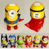 Parlante Bluetooth Personajes Minions Superheroes