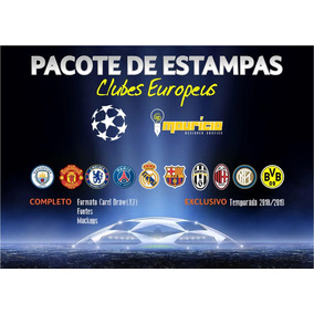 Pacote De Estampas - Clubes Europeus
