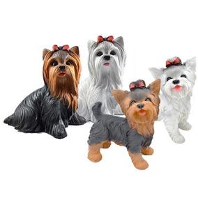 Filhote Cachorro Yorkshire Decorativo Em Resina Jardim 483899f6607ae