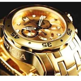 6a6a318f50f Relogio Invicta Pro Diver 16069 Ouro Rose 18k Chronograph - Relógios ...