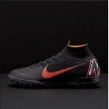 Zapatos De Fútbol Nike Superflyx 6 Elite Tf Negro Anaranjado