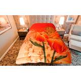 Acolchado Cotton Flor. Linea Virtual 2 Plazas Para Sommier