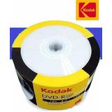 Pack 50 Unidades Dvd-r Kodak Vírgenes Cubierta Imprimible-tv