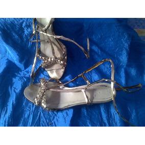 Sandalias Doradas De Fiesta Talle 36 (microcentro)