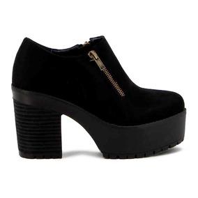 Zapato Darkness De Mujer Taco Y P/ Alta Jy9504-9701 Suede