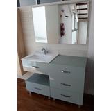 Mueble Baño Mod A5024 - 120x46x85 Alto Con Bacha Ceramica 9e9cd9923d50