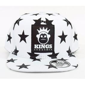 São Paulo · Bone Kings Sneakers Estrela Preto E Branco Snapback Aba Reta 3491eeefa13