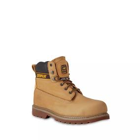 Zapatos Caterpillar Para Hombre Amarillo De Piel Botas