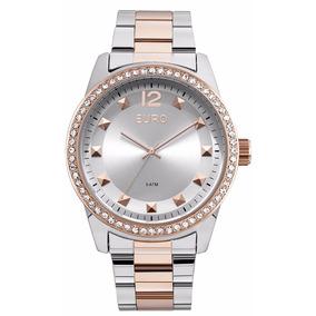 c5afb4e7d84a6 Lancamento Relogio Euro Bastia Rose - Relógios no Mercado Livre Brasil