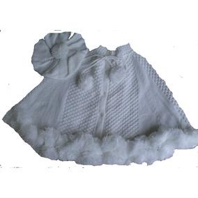 Poncho Aberto Pompom Boina Menina Bebê Proteção Frio Ref.150 efe245d6a6c