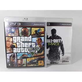 Kit De Jogos Ps3 Gta V E Call Of Duty Mw3 Seminovos