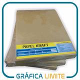 Papel Kraft A4 Misionero 225 Gr Resma 100hojas Madera Marron