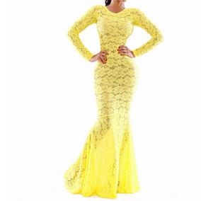11d5589b818f Vestido Largo De Noche Amarillo - Vestidos Largos Mujer en Xalapa en ...