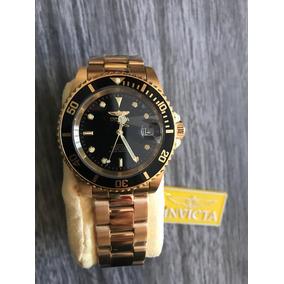 Relógio Invicta 8929ob Submariner Automático Banhado Ouro18k