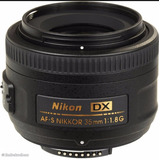 Lente Nikon 35 Mm/1.8 G Dx