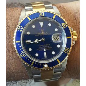 c19ea0d827f Rolex Submariner Misto Azul Completo Letra A Ref. 16613 De Luxo ...