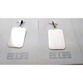 Promoción 2 Placas De Identificación En Plata Ley Pareja