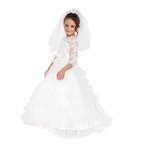 Disfraz vestido novia nina