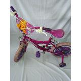 Bicicleta Rosada Rodado 16 Con Detalle