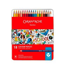 Lapices De Colores Caran D´ache - Lata 18un