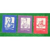 Uruguay 1990 Serie Permanente-lavalleja, Rivera, Y Artigas