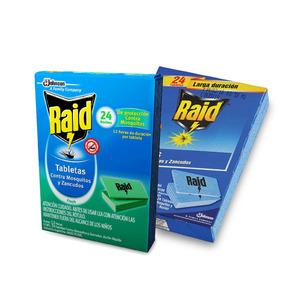 Tambletas Raid Anti Mosquitos X2