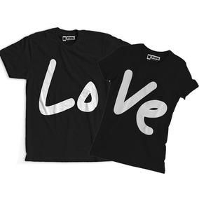 6de499f591 Conjunto Blusa Camiseta Namorados Casal Feliz Amor Love