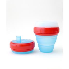 Vaso Para Bebé Celeste Y Rojo