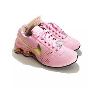 17a99244f8 ... Preto - Fúcsia Femininos AMTJBQY Tênis Nike Shox Deliver Feminino  Classic Original Promoção ...