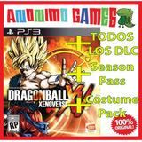 Dragon Ball Xenoverse + Todos Los Dlc Full Playstation 3