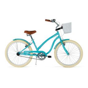Bicicleta Vintage Retro Mujer Turbo Ocean R-24 Azul 15449