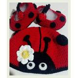 Conjunto Gorra Mas Zapatitos Crochet