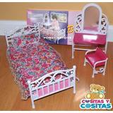 Mueble Para Casa De Muñeca Barbie Recamara Sencilla