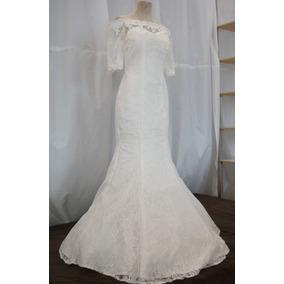 Vestido de novia corte sirena ivory