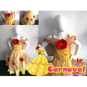 Vestido Princesa Disfraz De Bella Talla 6 Años Envío Gratis