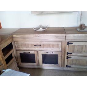 Muebles De Cocina De Madera Rusticos - Amoblamientos Completos en ...