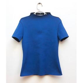 Buzo Azul Cuello Subido Zara S Nuevo!!