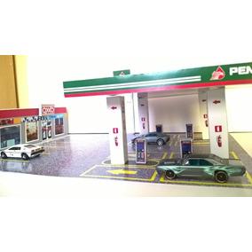 Diorama Papercraft Hot Wheels Esc 1/64 Oxxo Gas Gasolinera