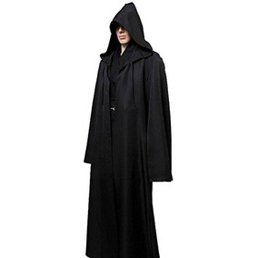Hombres Tunic Hooded Robe Capa Caballero Fancy Cool Cosplay
